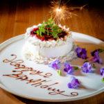 【誕生日や記念日に】メッセージ付きデザートプレートをサービス